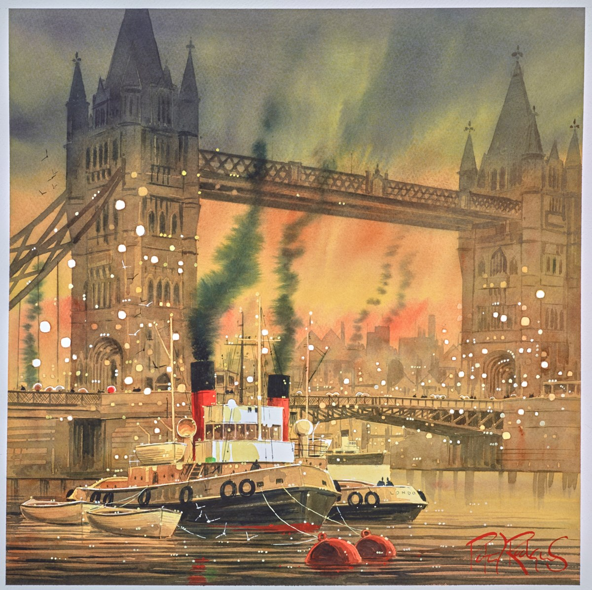 London Tugs by peter j rodgers -  sized 20x20 inches. Available from Whitewall Galleries